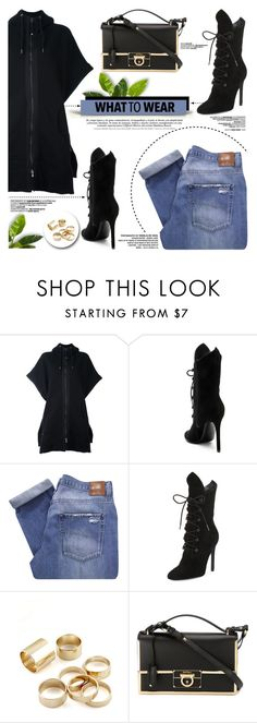 """What To Wear"" by yurisnazalieth ❤ liked on Polyvore featuring Diesel Black Gold, Kendall + Kylie, Nobody Denim and Salvatore Ferragamo"