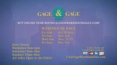 Bags & Bows Closeout (Gage & Gage Warehouse Sale has just added Friday November 20, Saturday November 21, and Sunday November 22 to this year's fall Sale!  BAGS, BOWS, & BOXES - quality closeout & over runs … save 40-90% at the Bi-annual Gage and Gage Warehouse Sale.  www.Around-Town.TV  www.GageWarehouseSale.com  https://vimeo.com/142391207