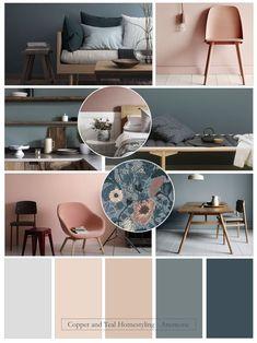 Interior Color Schemes, Blue Color Schemes, Bedroom Color Schemes, Room Colors, House Colors, Oval Room Blue, Interior Design Presentation, Colourful Living Room, Home Wallpaper
