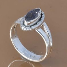IOLITE 925 SOLID STERLING SILVER EXCLUSIVE RING 2.87g DJR7471 #Handmade #Ring