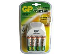 Cargador de pilas GP Powerbank  http://www.20milproductos.com/informatica-y-consumibles/cargadores/cargador-de-pilas-gp-powerbank-1.html