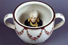 Chamber pot with head of Napoleon - Britain, ca. 1805 - Take THAT Napoleon! Kitsch, Collections D'objets, Art Nouveau, Tate Britain, Regency Era, Macabre, Comic Art, Creepy, Scary