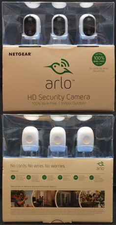 Surveillance Security Systems: Netgear Arlo 3 Hd Smart Home Security Camera System Vms3330-100Nas BUY IT NOW ONLY: $345.0