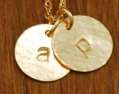 My sis sent me this for Christmas with e and a! (Though ironically, this pic from etsy is my own initials.)