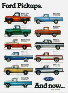 70 Jahre Ford Pickups - My list of the best classic cars Classic Ford Trucks, Ford Pickup Trucks, Chevy Trucks, Lifted Trucks, 4x4 Trucks, Custom Trucks, Ford Truck Models, Chevy Classic, Jeep Pickup