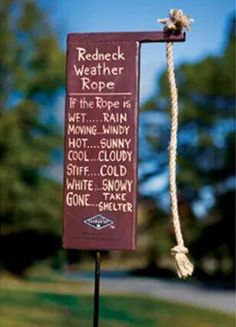 Red neck weather rope