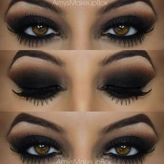 Smokey Eyes Makeup Black Hairstylesbeauty 40 Eye Makeup Looks For Brown Eyes Seductive Smokey Eyes Makeup Black Affordable Neutral Black Smokey Eye Makeup Tutorial Beauty Teacher. Smokey Eyes Makeup Black Simple But Dramatic Smokey Eye M. Smokey Eye Makeup Tutorial, Eye Makeup Tips, Skin Makeup, Makeup Ideas, Makeup Tutorials, Makeup Trends, Beauty Makeup, Makeup Eyeshadow, Makeup Hacks