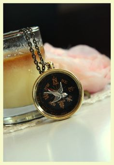 Vintage Inspired Brass Compass Necklace @Marolsha...I think I would wear every single piece in this shop!