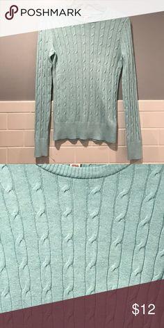 Merona XS aqua sweater Merona XS aqua cable sweater Sweaters Crew & Scoop Necks