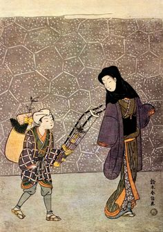 (Japan) by Suzuki Harunobu (1725- 1770). ca 18th century CE. woodblock print.