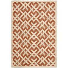 @Overstock - Poolside Terra Cotta/Bone Indoor/Outdoor Rug $186.14