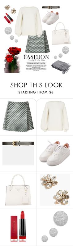 """""""Winter White"""" by omega952196 on Polyvore featuring Misha Nonoo, Helmut Lang, Gucci, J.Crew, Max Factor and Topshop"""