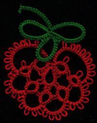 Be-stitched: Tatted Berries - Wild Strawberry - Free tatting pattern #tatting #lace #fruit