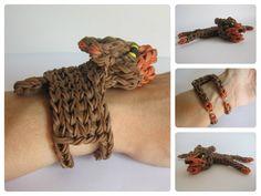 Loombicious 3D bear bracelet Rainbow Loom