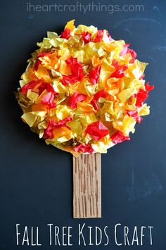 Fall time wouldn't be complete in my house without a fun Fall Tree Craft! It's something we look forward to every year. When I found out the kids craft stars craft challenge was all about tissue paper this month I was excited to dive in with the beautiful fall colors of red, orange, yellow and … #fallcraftforkids