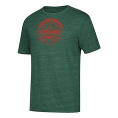 Miami Hurricanes adidas Seal Tri-Blend T-Shirt - Green