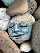 Image result for faces painted on rocks pics