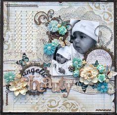 Gorgeous baby layout by Natasha.