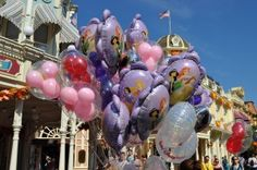 Seeing the huge bouquets of balloons walking down Main Street <3