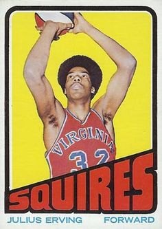 julius erving basketball cards | 1972 Topps Julius Erving #195 Basketball Card
