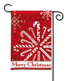 Take a look at this Peppermint Snowflake Flag by Everything Doormats on #zulily today!