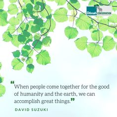 There is power in unity.  Your voice matters, your actions matter and your intentions matter. . . . . . . @davidsuzukifdn  #Mondaymotivation #mondaymood #quotestoinspire #quotes #MotivationMonday #DilmahTea #DilmahConservation #LoversofLife #peopleandplanet #unity #earth David Suzuki, Shared Reading, Make Business, Educational Programs, Human Services, Social Justice, Conservation, Unity, Plant Leaves
