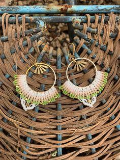 Macrame Earrings, Macrame Jewelry, Crochet Earrings, Artisan Jewelry, Handmade Jewelry, Unique Jewelry, Handmade Gifts, Micro Macrame, Etsy Crafts