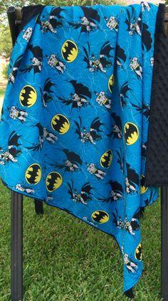 Batman toddler blanket 36x 36 FREE by Auntbunnysblankets on Etsy, $38.00