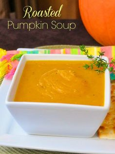 The Best Roasted Pumpkin Soup makes a terrific Fall appetizer course or light lunch.