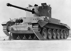 A CHALLENGER---- A CROMWELL WITH THE BRITISH 17 PDR GUN.MOST BRITISH ARMOURED REGIMENTS HAD A SHERMAN FIREFLY IN EACH TROOP,BUT 3 HAD 12 OF THESE EACH.これさえ上手く仕上っていればシャーマンに17ポンド砲を積まずに済んだチャレンジャー。顔を見ただけで末路が予想される。