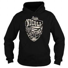 I Love Last Name, Surname Tshirts - Team NICOLL Lifetime Member Eagle T shirts