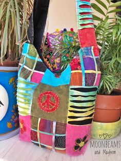 39eaa333157 LARGE PATCHWORK HIPPIE TOTE   BAG