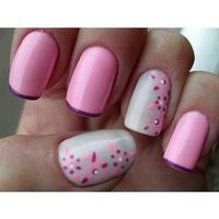 Sarah Pinyan posted cute nail designs to her -nails- postboard via the Juxtapost bookmarklet. Grey Nail Art, Cute Nail Art, Cute Nails, Pretty Nails, Fabulous Nails, Gorgeous Nails, Fancy Nails, Diy Nails, Pink Manicure