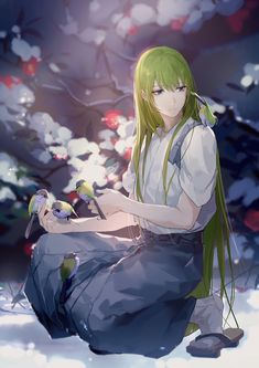 """今天刚好下雪了"" エルキドゥ【Fate/Grand Order】Enkidu Gilgamesh And Enkidu, Gilgamesh Fate, 5 Anime, Anime Art, Oc Manga, Fate Characters, Ecchi, Anime Kunst, Fan Art"