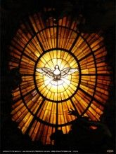 Stained Glass Dove Poster - Catholic to the Max