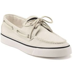 Sperry Women's Bahama 2 Eye Shoe ($60) ❤ liked on Polyvore featuring shoes, white, lace up shoes, white lace up shoes, traction shoes, laced up shoes and white shoes