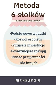 Lista kategorii wydatków w metodzie 6 słoików. #finasne #wiedza #porady #finanseosobiste Savings Challenge, Money Saving Challenge, Saving Money, Saving Ideas, Saving Tips, Savings Chart, Ways To Be Happier, Self Care Activities, Bullet Journal Ideas Pages