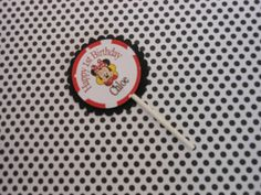 Minnie Mouse Red Heart Cupcake Toppers with by ASweetCelebration, $15.00