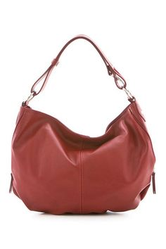 Lucca Baldi Ladies' Nora Leather Bag in Red
