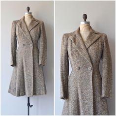 NEW! 1930s Literary League tweed coat • s/m