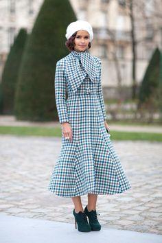 Couture week in Paris - Miroslava Duma wearing Christian Dior.