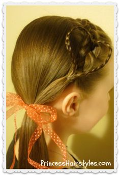 Braided heart headband hairstyle
