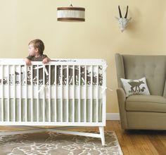 DwellStudio Woodland Nursery Collection...love the crib!