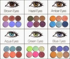 Brown eyes are the most common, but this doesn't mean they don't need to stand out. So to make your eyes amazing match them with nuances of violet, purple and blue. It is the most neutral eye color and you can practically choose from a wide range of eye shadow colors. Hazel eyed girls can follow the same color pattern as the brown eyed ones, but darker shades of green also work well for them. Amber eyes look amazing if combined with warm colored eye shadow and soft shades of blue, like sky…