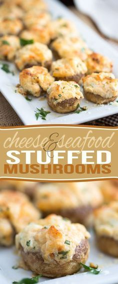 Decadent, slightly indulgent, but low carb and filled with loads of nutritious ingredients still, these Cheese and Seafood Stuffed Mushrooms are guaranteed to be a hit at your next party! Great fit for lchf and low carb diets.