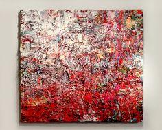 Adam Cohen Untitled Red - 5' x 6' acrylic on canvas 2015 Adam Cohen Artist