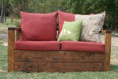 Simple Outdoor Loveseat with Storage