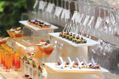 appetizer display mini bites- might be good for right after the ceremony