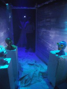 Hansel & Gretel Installation Production Photo, Ice Witch as seen from Freezer