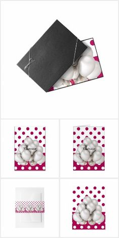 Polka Dot Stationary & Guest Books & Cards